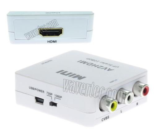 Wavertec RCA AV CVBS to HDMI Converter Box Composite 1080P