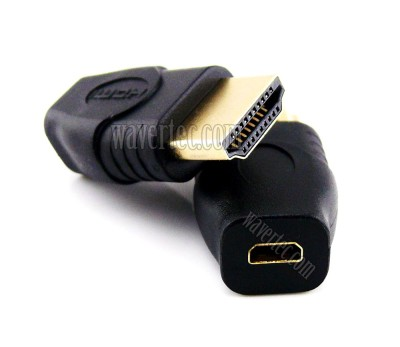 Wavertec Standard HDMI Male to Micro HDMI Female Adapter Connector Type A D