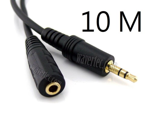 Wavertec 10M 33Ft Long Audio Extension Cable 3.5 Audio Jack Male to Female