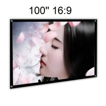 EZAPOR 100  16:9 foldable Projection Screen Home Cinema PVC Fabric 3.3 lbs