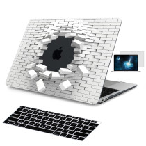Batianda 3D Cool Brick Design Case for MacBook Air 13 inch with Black Keyboard Cover Screen Protector