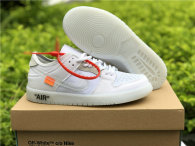 Authentic OFF-WHITE x Nike Dunk SB Low White (women)