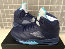 "Authentic Air Jordan 5 ""Midnight Navy"""