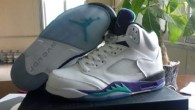 Air Jordan 5 RETRO White purple Grape