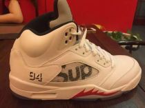 Authentic Supreme x Air Jordan 5 White