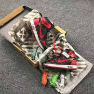 OFF-WHITE x Air Jordan 1 Black Red