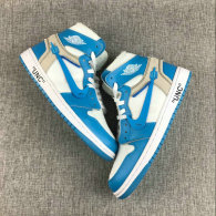 Off-White x Air Jordan 1 Blue AAA