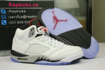 "Authentic Air Jordan 5 Retro ""White Cement"""