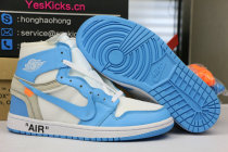 Authentic Off White x Air Jordan 1 UNC