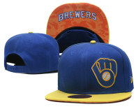 MLB Milwaukee Brewers Snapback Hat (12)