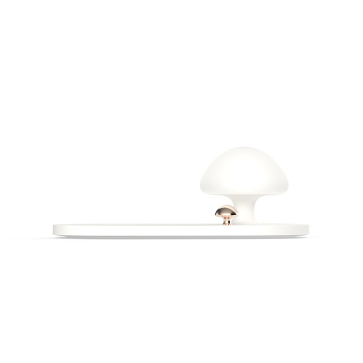 Mobile Phone Mushroom With Night Lamp QI LED Light bluetooth Charger