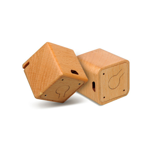 New Released Square Solid Wood Wireless Speaker with Stereo Sound Mini Speakers