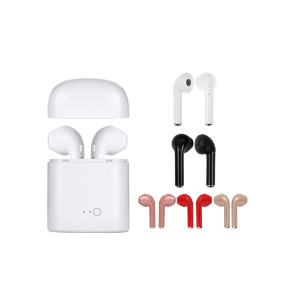 Twins Double Wireless Bluetooth Headset Pair Bluetooth Earphone I7 TWS I7S Tws with charging dock(JL 6904/JL 6908)