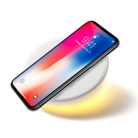 10W Qi Mobile Phone Fast Wireless Charger with Alarm Clock LED Light