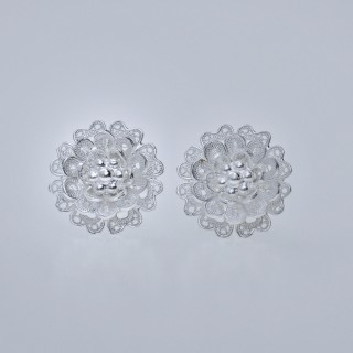 Filigree Ear Stud - Forest Collection - Flower
