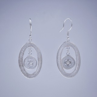 Filigree Earrings - Sky Collection - Sun Drum
