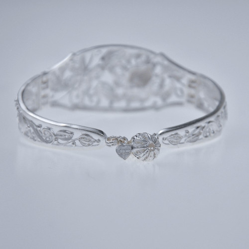 Filigree Bracelet - Forest Collection - Butterfly and Flower