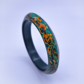 Pingyao Lacquer Bracelet - Melting Cooper