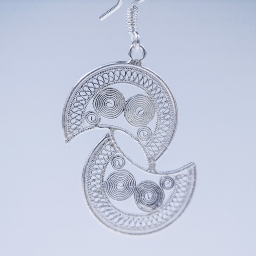 Filigree Earrings - Sky Collection - Moon
