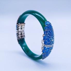 Burning Blue Bracelet -  Green Fairy