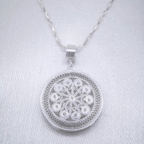 Filigree Necklace - Sky Collection - Sun Flower Drum