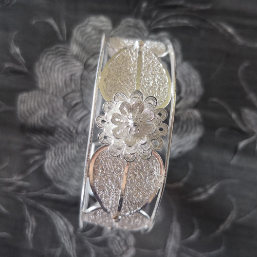 Butterfly - Silver Filigree Bangle
