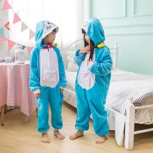 Kids Doraemon Onesie Kigurumi Pajamas Kids Animal Costumes for Unisex Children