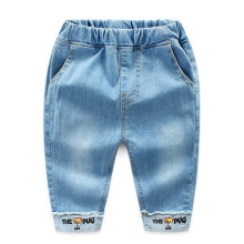 Toddler Boys Print Cartoon Letter Denim High Quality Jeans Pants