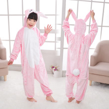 Kids Blue Rabbit Onesie Kigurumi Pajamas Kids Animal Costumes for Unisex Children