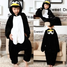 Kids Penguin Onesie Kigurumi Pajamas Kids Animal Costumes for Unisex Children