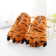 Cozy Tiger Flannel House Monster Slippers Halloween Animal Costume Paw Claw Shoes