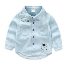 Toddler Boys Blue Denim Long Sleeve Shirt