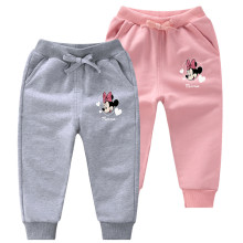 Simple Toddler Girl Print Minnie Jogger Cotton Pants