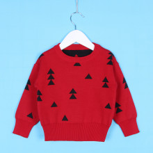 Toddler Girl Knit Pullover Black Triangles Geometric Pattern Sweater