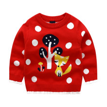 Toddler Girl Knit Pullover Sweater Fox Pattern
