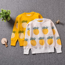 Toddler Girl Knit Pullover Fruit Pineapples Pattern Sweater