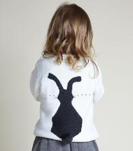 Toddler Girl Knit Pullover Cute Rabbit Back Sweater