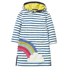 Toddler Girl Stripes Long Sleeves Casual Hooded Dresses