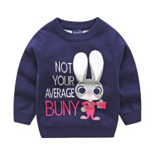 Toddler Girl Knit Pullover Sweater Zootopia Rabbit Pattern