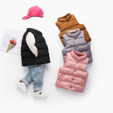 Toddler Girl Snap-up Thicken Warm Vests with Pockets