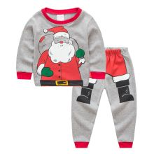 Toddler Boy 2 Pieces Pajamas Sleepwear Christmas Santa Claus Long Sleeve Shirt & Legging Sets