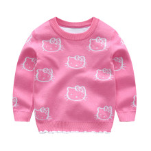 Toddler Girls Knit Pullover Upset to Keep Warm Hello Kittys Sweater