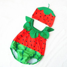 Baby 3D Cute Watermelon Swimsuit With Swim Cap 0-3 Years