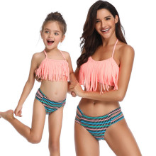 Mommy and Me Matching Swimwear Tassels Bikini Swimsuit