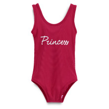 Mommy and Me Print Princess Red Swimsuit