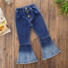 Girls Ombre Flared Denim Jeans
