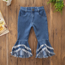 Girls Layers Flared Denim Jeans