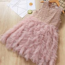 Girls Lace Sleeveless Layers Tutu Party Dress
