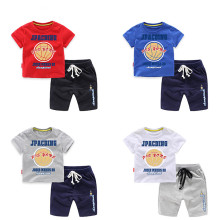 Boys Print Sport Basketball T-shirts and Short Two-Piece Outfit