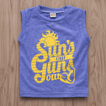Boys Print Sun's Out Blue Tank Top